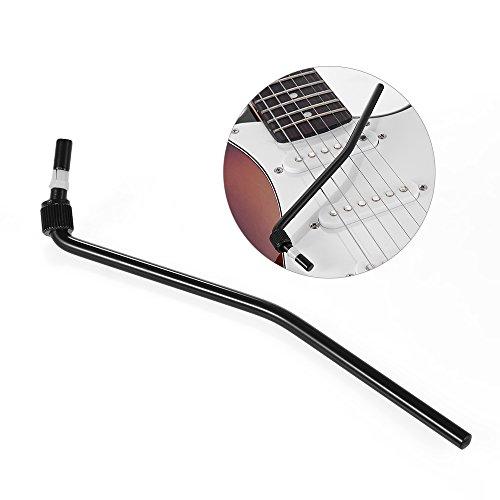 ammoon Guitarra Eléctrica Trémolo Trem Vibrato Brazo Whammy Bar manivela Palanca para Floyd Rose puente System, negro