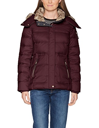 ESPRIT Damen Jacke 087EE1G011, Rot (Bordeaux Red 600), Small