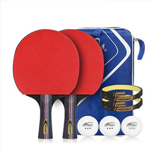 xianw Tischtennisschl?ger - professionelle ping Pong paddel mit Tragetasche – Pong Set - ittf genehmigt kautschuk für turniere-A