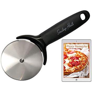 Pizzamesser Pizzaschneider Pizzaroller Edelstahl Rutschfester Griff Werkzeug