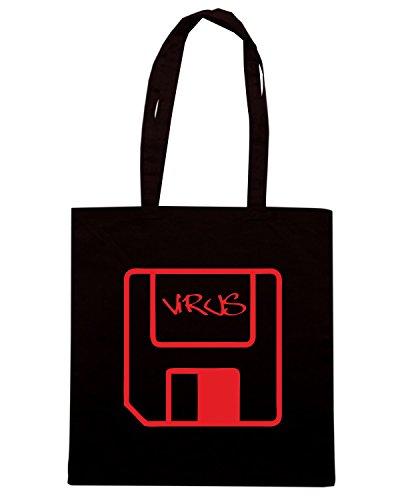 T-Shirtshock - Borsa Shopping OLDENG00712 virus Nero