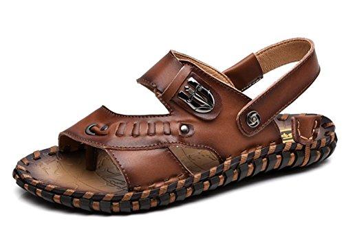 di traspirante uomini 2017 1 di cuoio a nuovi sandali sandali estate mano w7tpBxq