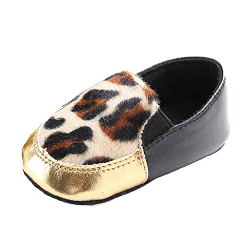 Babyschuhe Longra Baby Leopard-Single Baby Schuhe krabbelschuhe weiche Sohle Schuh weiche Schuhe Flats lauflernschuhe (0~ 18 Monate) (11CM 0 ~ 6 Monate, Brown) (Sandalen Kleid Baby-mädchen)