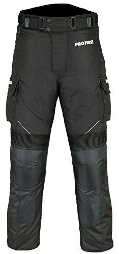 Motorradhose, wasserdicht, CE-geprüft, mit herausnehmbarem Innenfutter und großen Taschen, Beininnenlänge: 81,3cm (Schwarz - XS bis XXXXL) Gr. X-Small/ 28W, 32