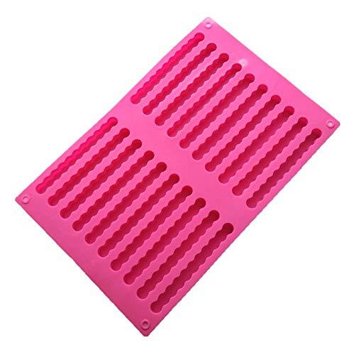 LEYOYO Silikon 20 Bar Mold Eiswürfelschale EIS am Stiel Schokolade Stick Mold Soap Cookie Lange Eisform Q -