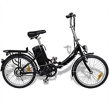 Tidyard Bicicleta Eléctrica Plegable con Batería Litio-Ion 24V 8AH de Aluminio con LED 3
