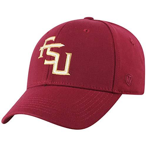 Top of the World NCAA Florida State Seminoles Men's Premium Memory Foam Logo Hat, Garnet (Seminoles Hat State Florida)