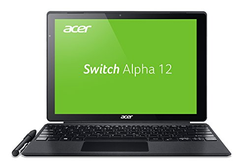 Acer Switch Alpha 12 SA5-271-38U0 30,5 cm (12 Zoll QHD Touch IPS) Convertible Notebook (Intel Core i3-6006U, 4 GB RAM, 256 GB SSD, Acer LiquidLoop, Lautlos, Windows 10, Mulit-Touch) silber