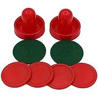 Home Standard Mini Air Hockey Reemplazo 60/76/96 mm 2 Pusher Goalies 4 Pucks Set de Fieltro para mesas de Juego Equipos