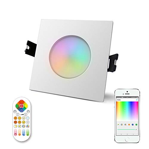 iHomma Downlight LED Empotrable Cuadrado,Bluetooth App Control,Mando a Distancia,Rugulable Luz Fría+Blanca Luz...