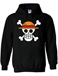 One Piece Flag Japanese Manga ????? Novelty White Men Women Unisex Hooded Sweatshirt Hoodie
