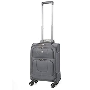 "Aerolite 21""/55cm Lightweight 8 Wheeled Spinner Cabin Hand Luggage Travel Suitcase"