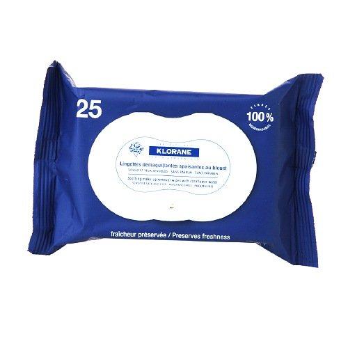 Klorane relajante maquillaje Remover Wipes color azul