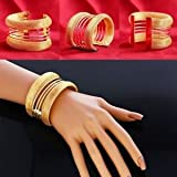 SLB Works Brand New New Retro Women Fashion Lots Style Gold Plated Bangle Punk Cuff Bracelet Top
