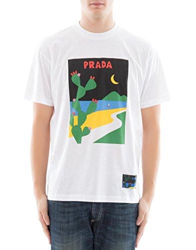 Prada Herren 9S1621qgff0009 Weiss Baumwolle T-Shirt (Prada Herren Shirt)
