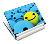 Luxburg® Design Aufkleber Schutzfolie Skin Sticker für Notebook Laptop 10 / 12 / 13 / 14 / 15 Zoll, Motiv: Smiley Highlight