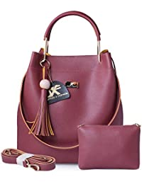 Speed X Fashion Women's Handbag With Sling Bag Combo (S00YTN-Maroon)
