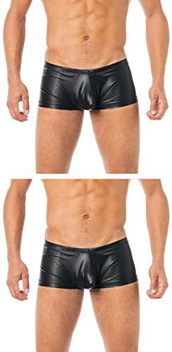 Nylon Herren-shorts (Verano Latex-ähnliche Boxer Shorts - Vinyl Shorts Herren VA-C2-000 (S - 2 Stück))