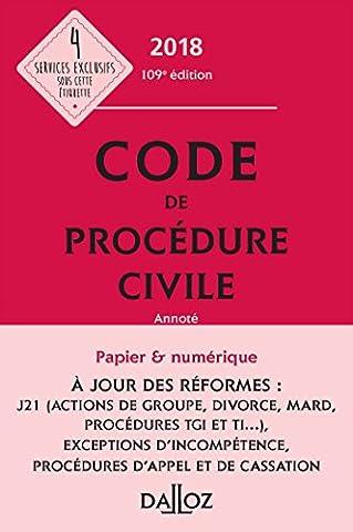 Code de procédure civile 2018, annoté - 109e