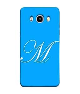 PrintVisa Designer Back Case Cover for Samsung Galaxy J5 (6) 2016 :: Samsung Galaxy J5 2016 J510F :: Samsung Galaxy J5 2016 J510Fn J510G J510Y J510M :: Samsung Galaxy J5 Duos 2016 (Name start Great M Light blue)