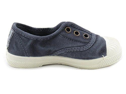 Stoff Schuh Rosa Natural World 102-E Marineblau