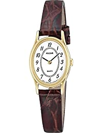 Pulsar Ladies Gold Plated Strap Watch