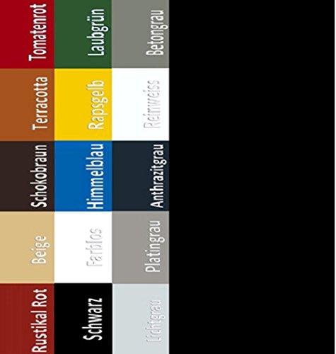 6,75EUR/L Bodenbeschichtung Bodenfarbe Boden Garagenfarbe Garagen Hallenfarbe Hallen Estrich Zement Farbe Tiefschwarz 20L