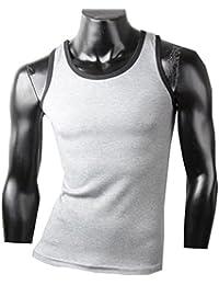 Herren Tanktop Tank top Muskelshirt Fitness T shirt Achselshirt zweifarbig