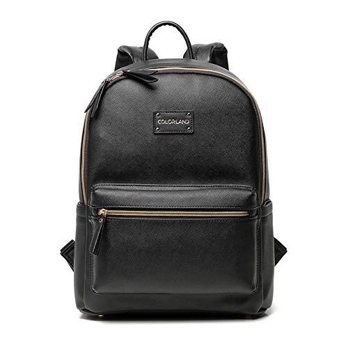 Yao rack Baby Wickeltasche Multifunktions Mode Durable Reisetasche Pu Wasserdichte Große Kapazität Leichte Komfortable Ändern Tasche 27 × 17 × 38 cm,Black
