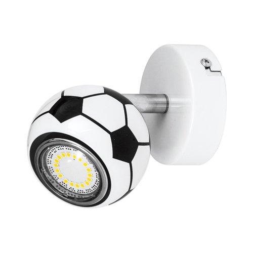SP-2500104 Applique murale à spot LED Coque à motif ballon de football Blanc/noir Avec 1 flamme