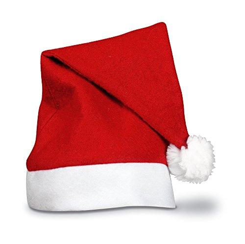 eBuyGB Erwachsene Unisex festliche Weihnachten Santa Hat (rot) (Silber Santa Hut)