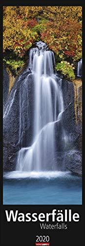 Wasserfälle xxl - Kalender 2020, vertikal - Weingarten-Verlag - Wandkalender mit spektakulären Aufnahmen - 34 cm x 98 cm