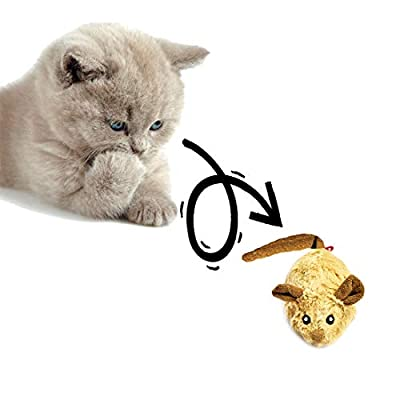 Vealind GiGwi Automatic Moving Mouse Cat Toy with Lifelike Sounds by GiGwi