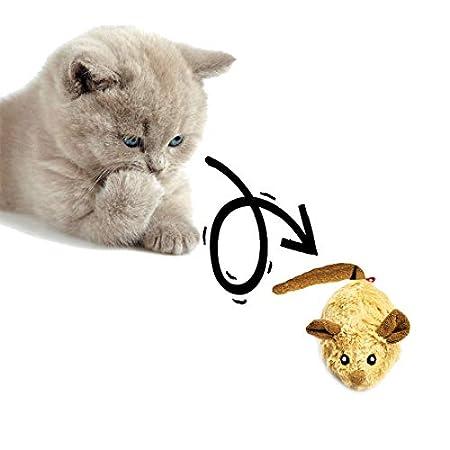 Vealind GiGwi Automatisches Bewegliches Mausspielzeug Katzenspielzeug mit Lebensechter Klang