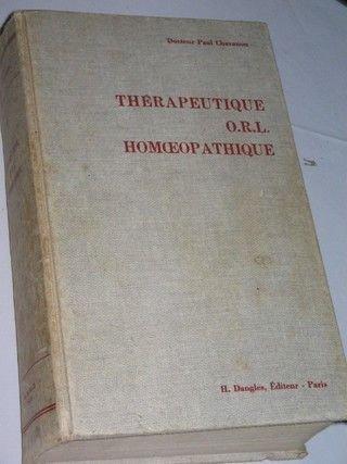 Therapeutique O. R. L Homéopathique