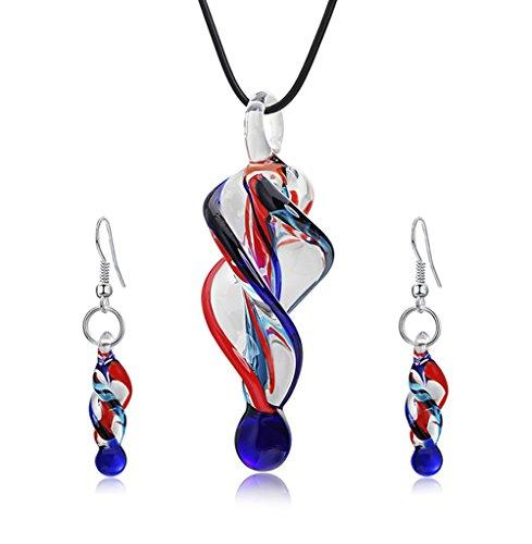 AIUIN Reihe von Schmuck Set Halskette Anhänger Ohrringe Modellierung von Tornado Spiralmuster, für Damen Geschenk couple Geburtstagsgeschenk Weihnachtsgeschenke Kostüm - Tornado Kostüm