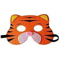Li_unmio Máscaras Decorativas Lindas de la Moda y del Ambiente de los niños Animales de los niños máscara Decorativa Linda (B)