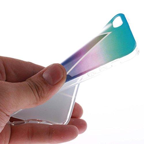iPhone 5 Coque, Étui Cover Housse pour iPhone 5S 5C 5G, Bling Glitter Fluide Liquide Sparkles Sables Hard Shell iPhone SE Case, Princesse sirène Mermaid-Résistant à la poussière Scratch color-13