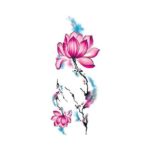Kostüm Altersgruppen Aller Rock - tzxdbh 7 Stücke-Blume Tattoo Aufkleber Damen Brust Bauch Kostüm Studio Rose Pfirsich Pfingstrose Tattoo Aufkleber TBX-9024 90 * 190 MM
