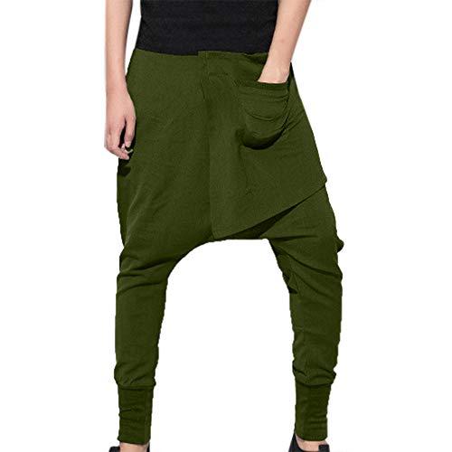 Geili Herren Haremshose Freizeithose Pluderhose Pumphose Yoga Hose Hip Hop Rap Hipster Stil Straight Leg Lang Hose Männer Einfarbige Übergrößen Traininghose Sporthose Fitness (Männer Kostüm Größentabelle)