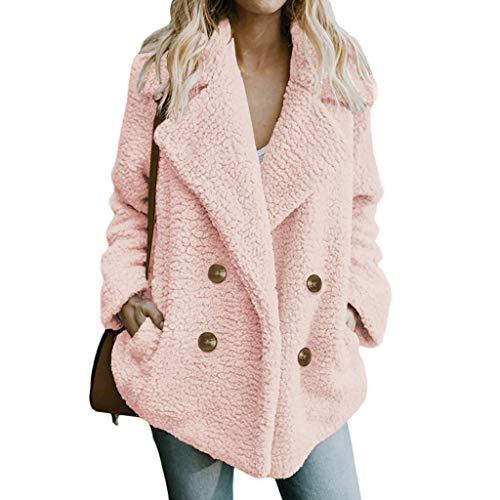 YIHANK Coat YIHANK 2019 Autumn and Winter Womens Pure Color Casual Jacket Winter Fashion Warm Parka Outwear Ladies Coat Fleece Overcoat Cardigan Outwear