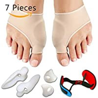 Hongdett 7PCS/Set Bunion Sleeves Hallux Valgus Corrector Alignment Toe Separator Metatarsal Splint Orthotics Pain... preisvergleich bei billige-tabletten.eu