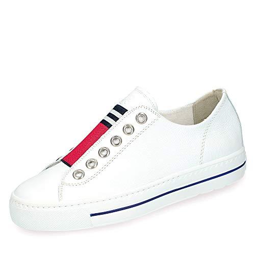 Paul Green 4797 004 Damen Sneaker aus feinem Glattleder mit Frottee-Futter, Groesse 42, weiß