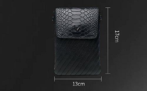 TaoMi Homw- Telefon-Satz-weiblicher Minisommer-Beutel-Dame-Kurier-Beutel / mit Schulter-Bügel Gray black