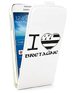 Etui à rabat drapeau breton I Love Bretagne Samsung Galaxy S4 Mini
