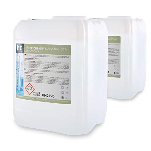 2 x 10 L Essigsäure 60% - VERSANDKOSTENFREI - frisch abgefüllt in handlichen 10 L Kanistern -