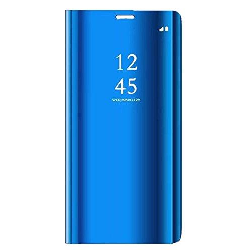 """Funda Samsung Galaxy Note 9 Teléfono Caso Espejo Alta Calidad Protección Plástico Duro Cover Ultra Delgado Anti-Rasguños 2 en 1Carcasa para Samsung Note 9 (Samsung Galaxy Note 9 6.4"""", D-Azul profundo)"""