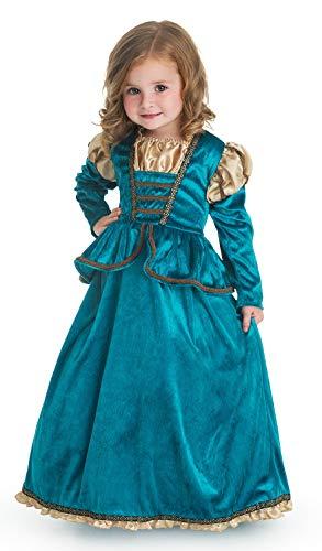 Little Adventures Kostüm für Mädchen, Schottische Prinzessin, Größe M, 3-5 Jahre