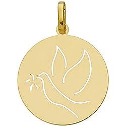 So Chic Bijoux © Médaille Baptême Républicain Colombe Or Jaune 750/000 (18 carats)