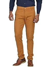 Kushsection Men's Regular Fit Casual Trouser Brown Trouser For Men